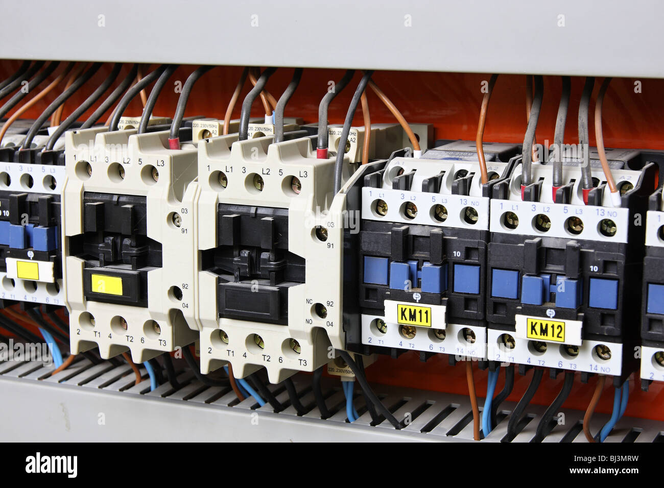 New control panel with static energy meters and circuit-breakers ...