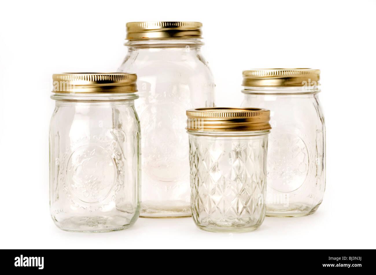 empty jars - Stock Image