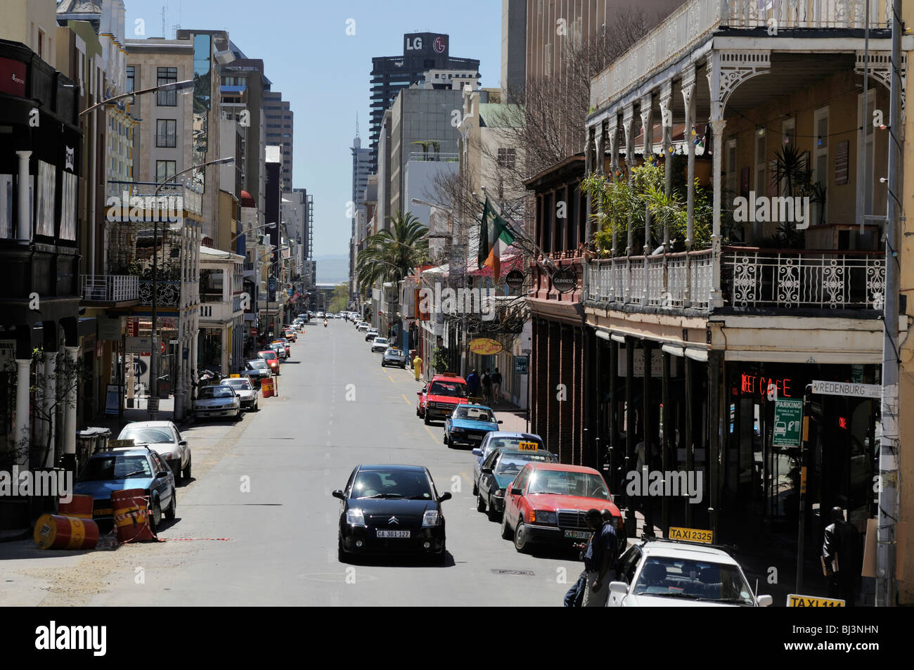 Downtown cape town corner of long street vredenburg lane for Outdoor photo south africa