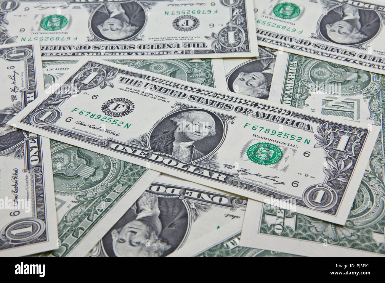 One-dollar bills - Stock Image