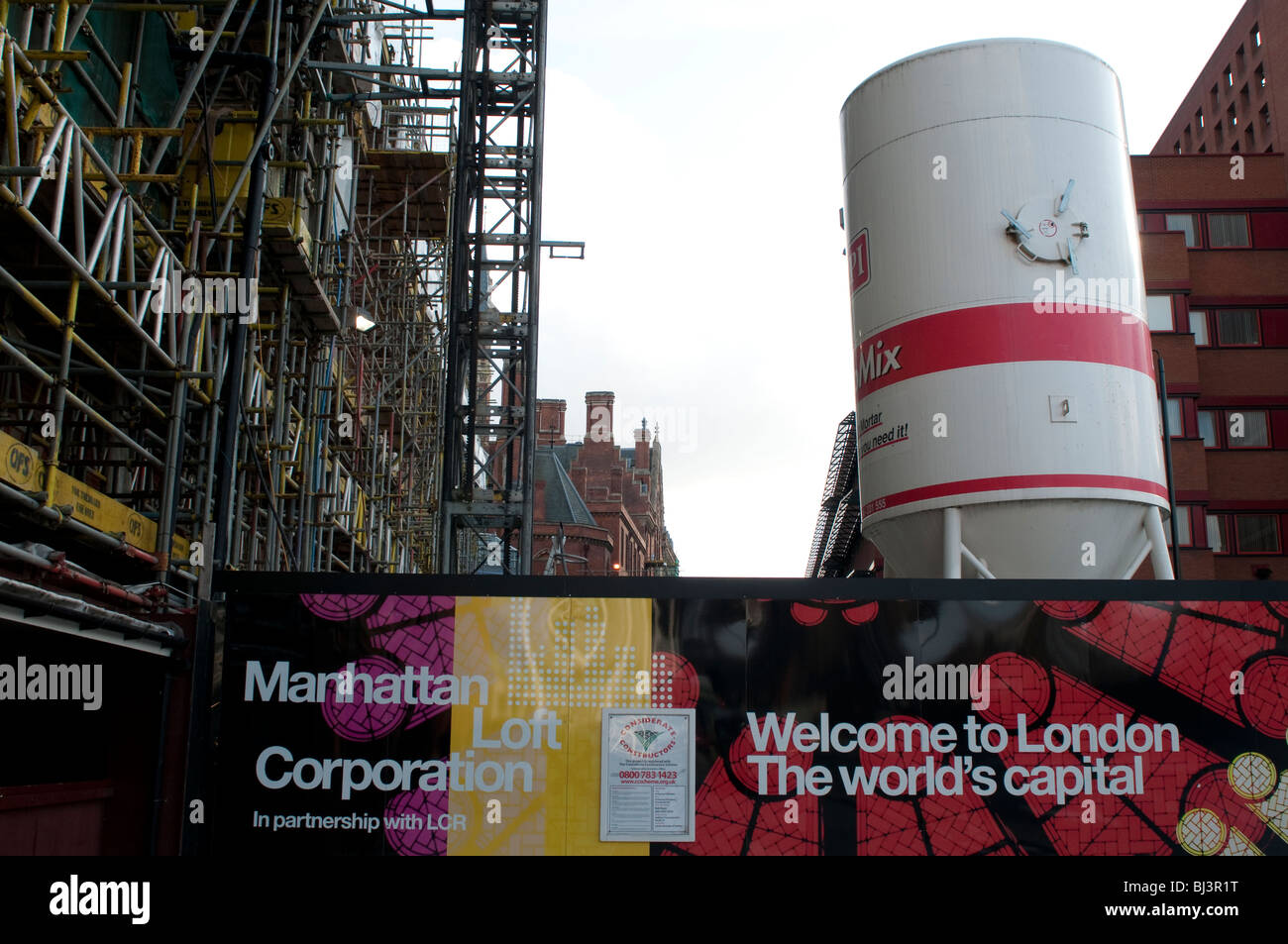 St Pancras construction site, London, UK - Stock Image