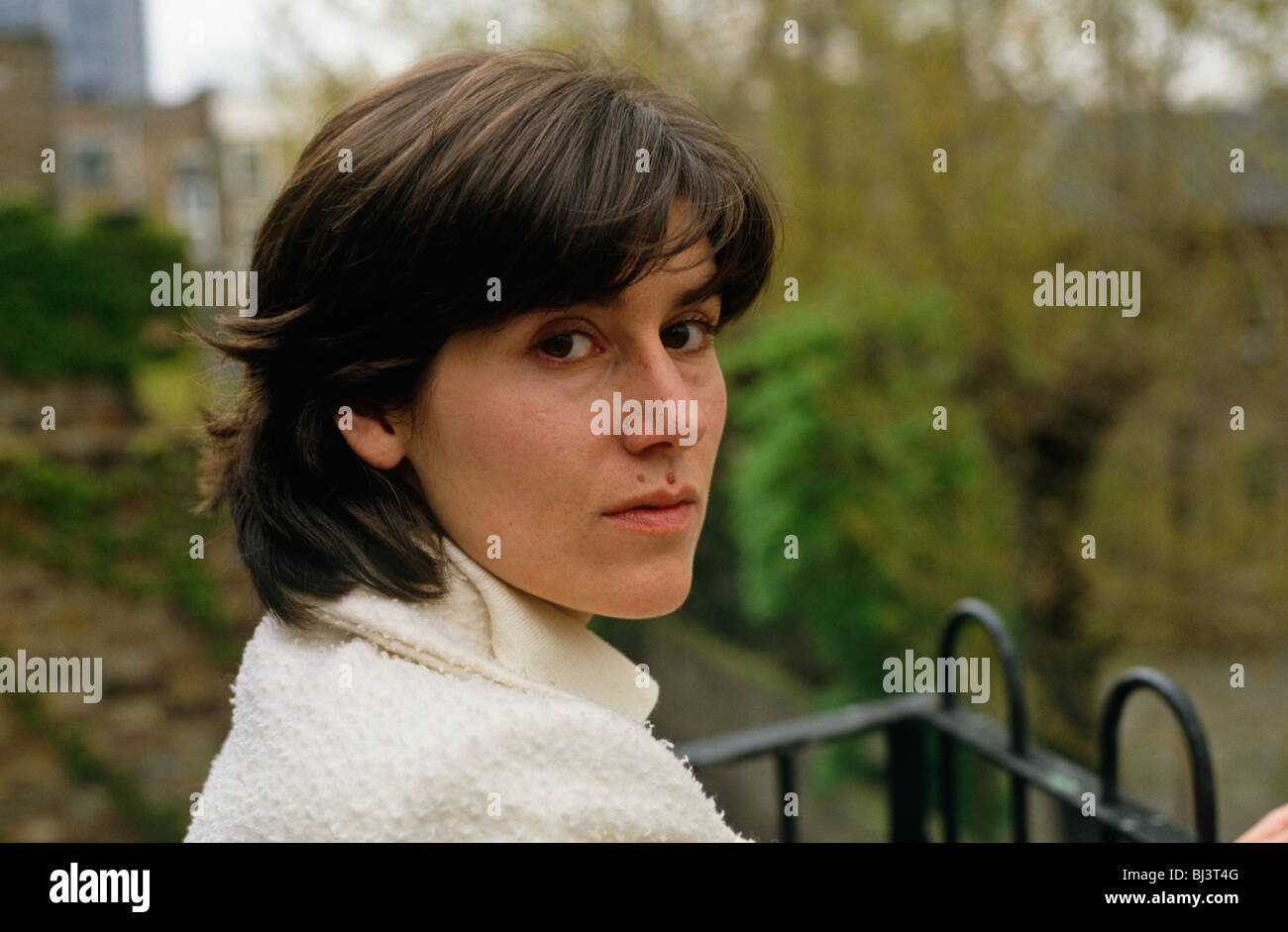 Portrait of fashion designer Bella Freud, daughter of the artist Lucian Freud and the great grand daughter of Sigmund - Stock Image
