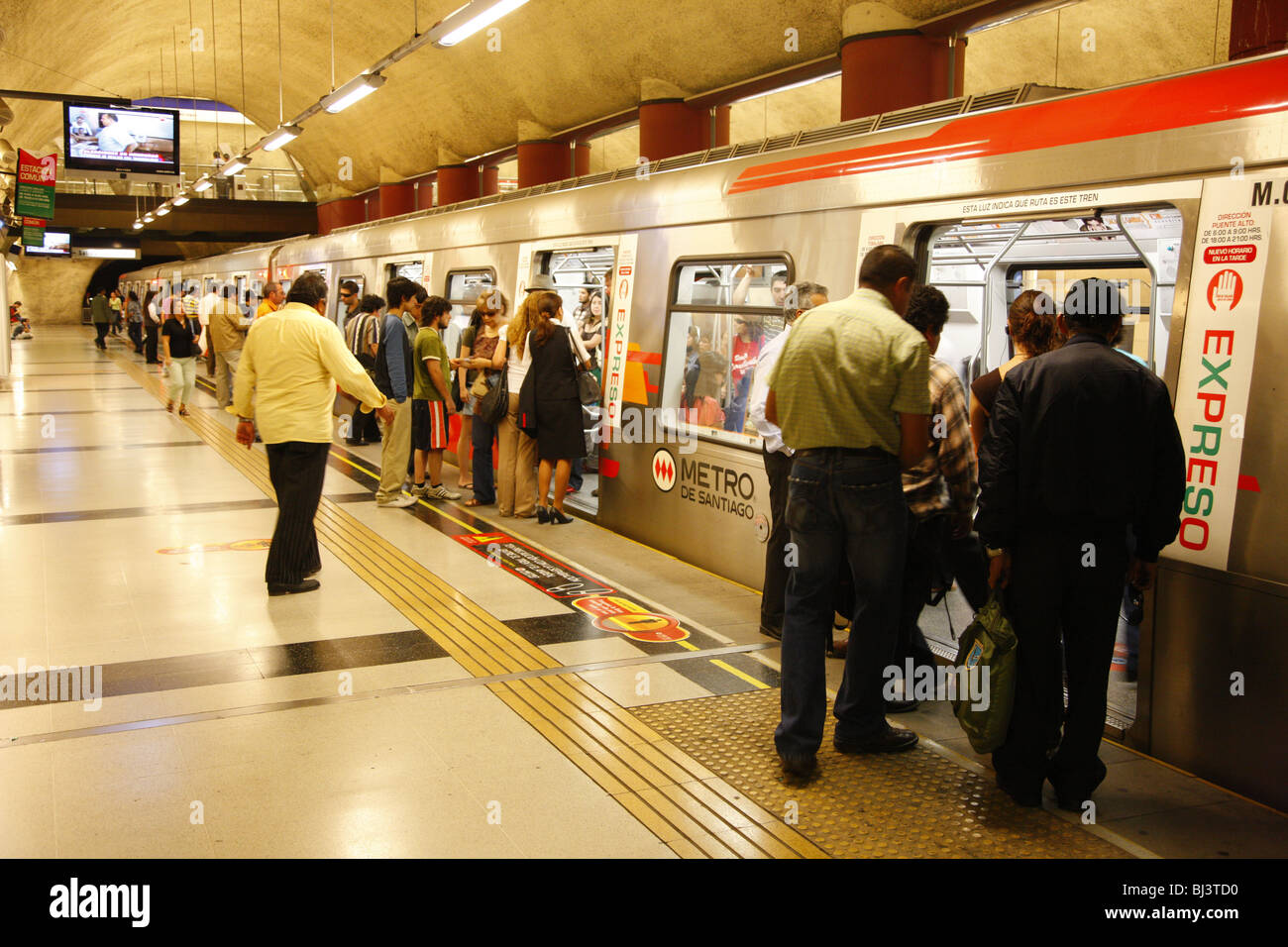 Subway station, Santiago de Chile, Chile, South America Stock Photo