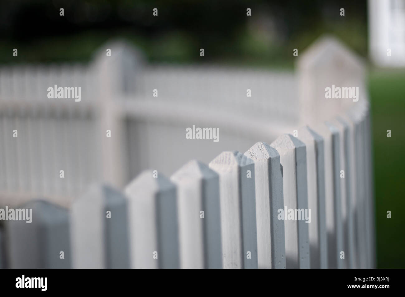 Picket fence close up. - Stock Image