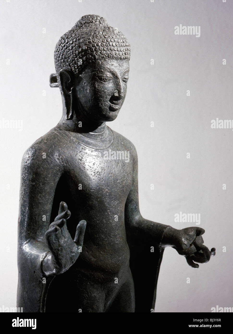 Bronze statue of Buddha, from Java or Sumatra, Indonesia, c8th-9th century. Artist: Werner Forman - Stock Image