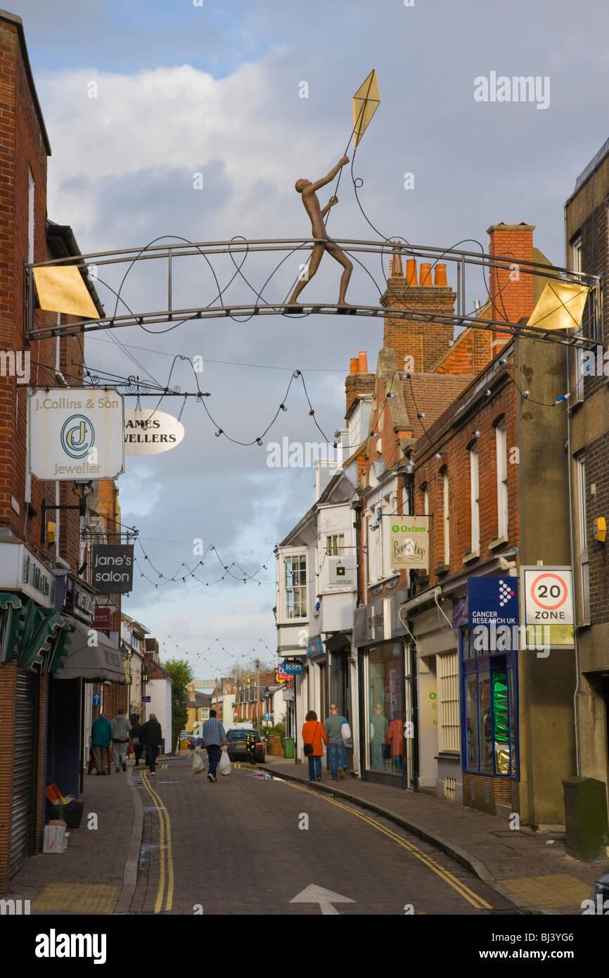 Parchment Street, Winchester, Hampshire, England, United Kingdom, Europe - Stock Image