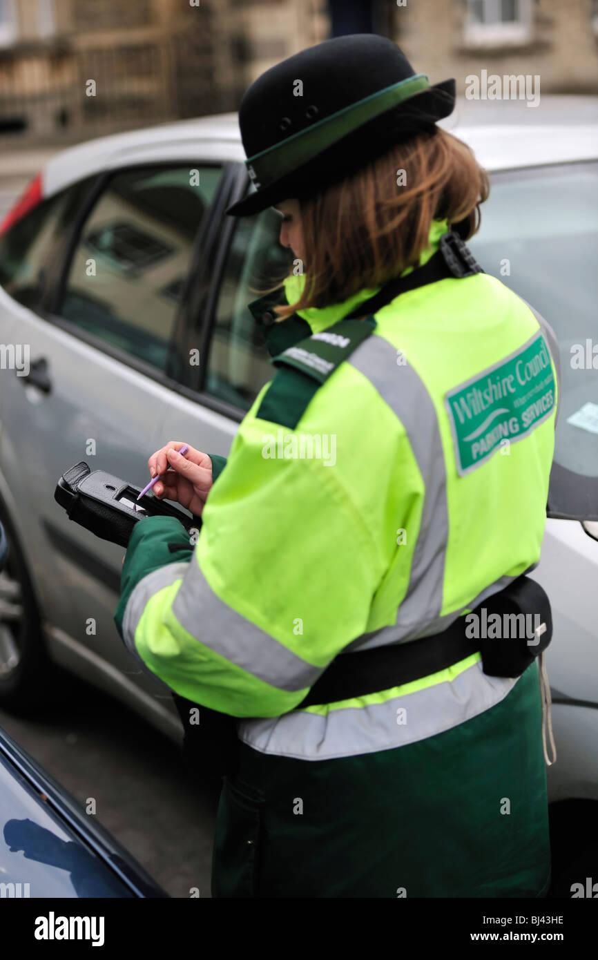 Parking Warden - Stock Image