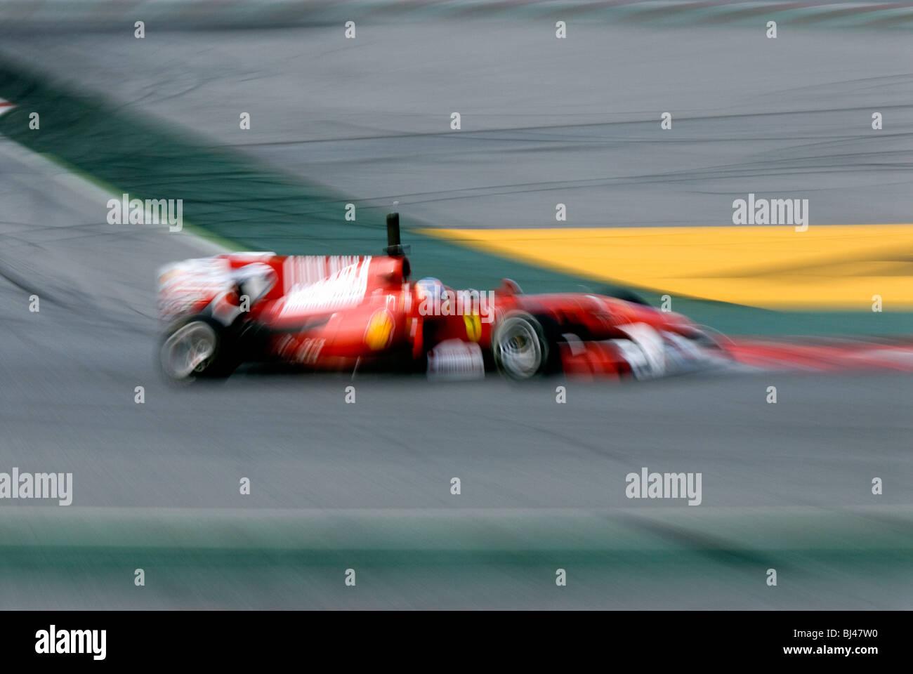 Feature, Formula 1 testing sessions at Circuit de Catalunya near Barcelona, Spain, 25.-28.2.2010. - Stock Image