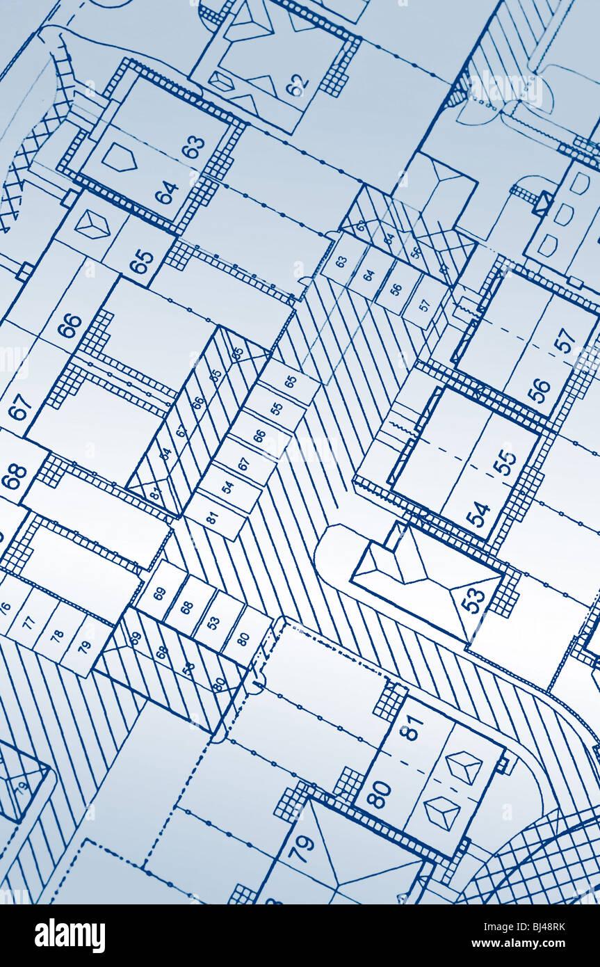 Housing development plans - Stock Image