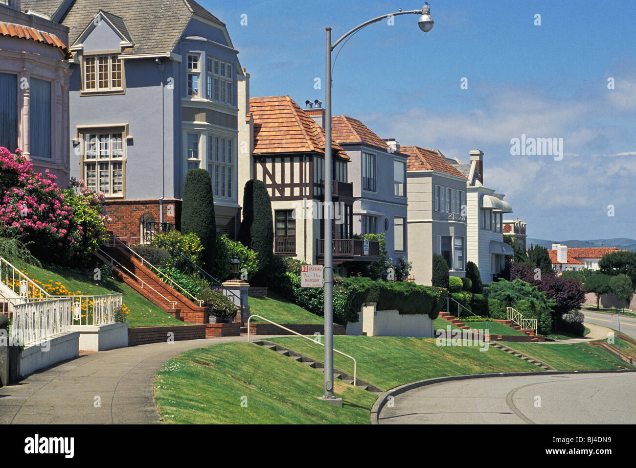 seacliff residential area san francisco california stock photo 28372773 alamy. Black Bedroom Furniture Sets. Home Design Ideas
