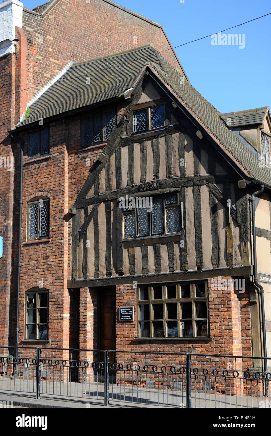 Early 17th century half timbered building in Victoria Street Wolverhampton England Uk - Stock Image