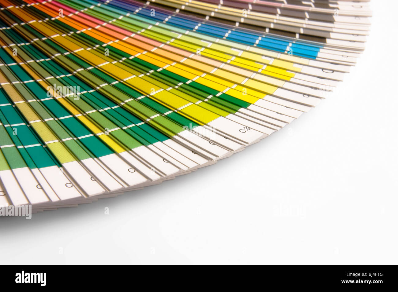 open CMYK sample colors catalogue - Stock Image