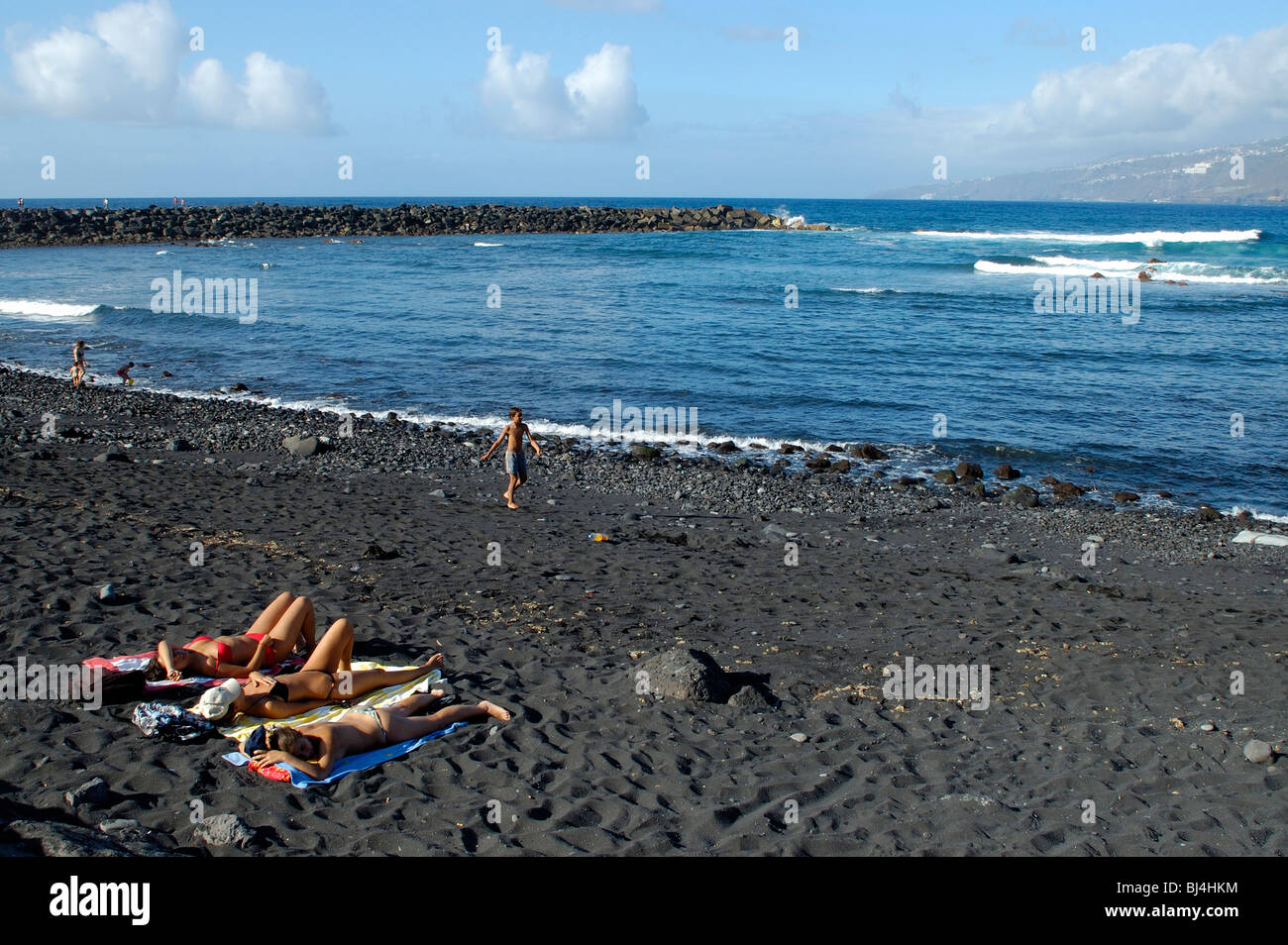 Spain canary islands tenerife puerto de la cruz playa martianez stock photo 28375864 alamy - Playa puerto de la cruz tenerife ...