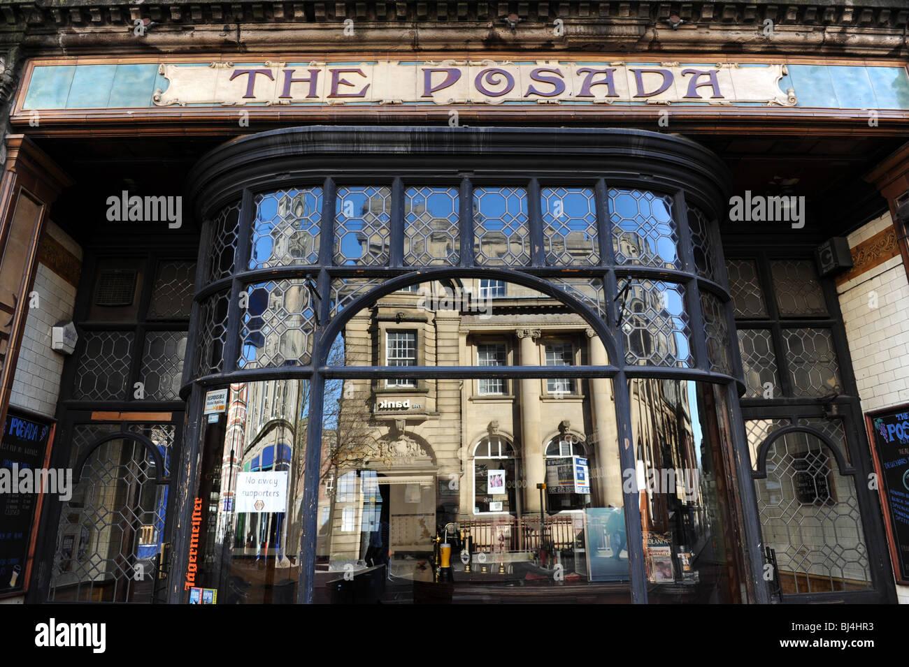 The Posada Pub in Lichfield Street Wolverhampton Uk - Stock Image