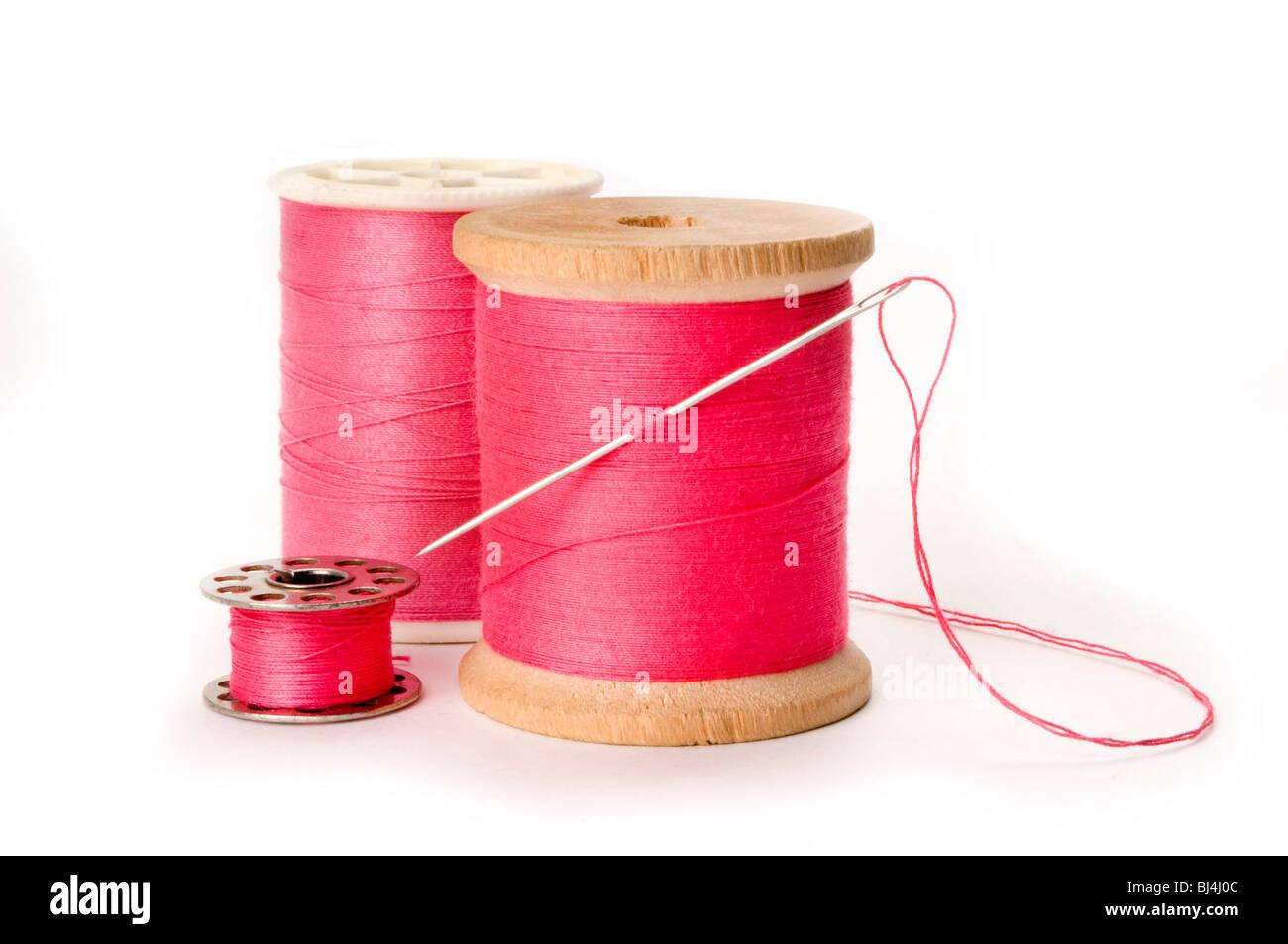 needle and thread - Stock Image