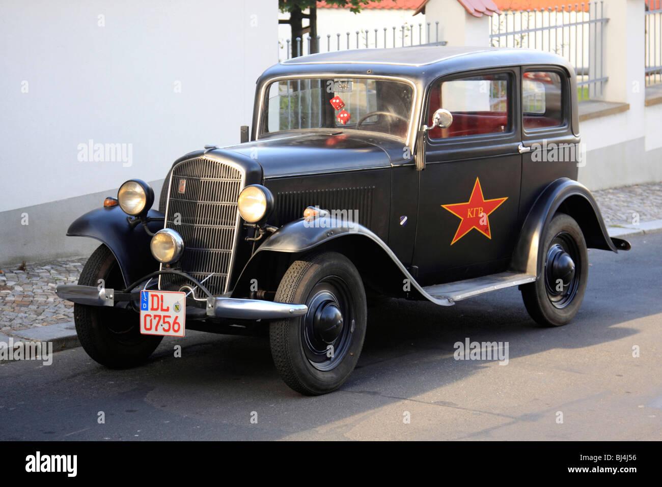 Vintage car, KGB car - Stock Image