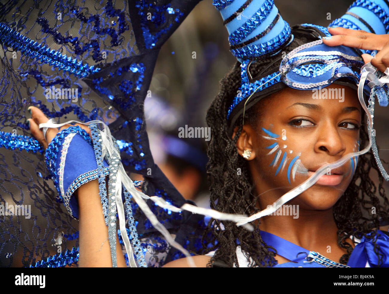 Colourful displays on the final day of the Notting Hill Carnival in London, August 25th, 2008. Credit: Susannah - Stock Image