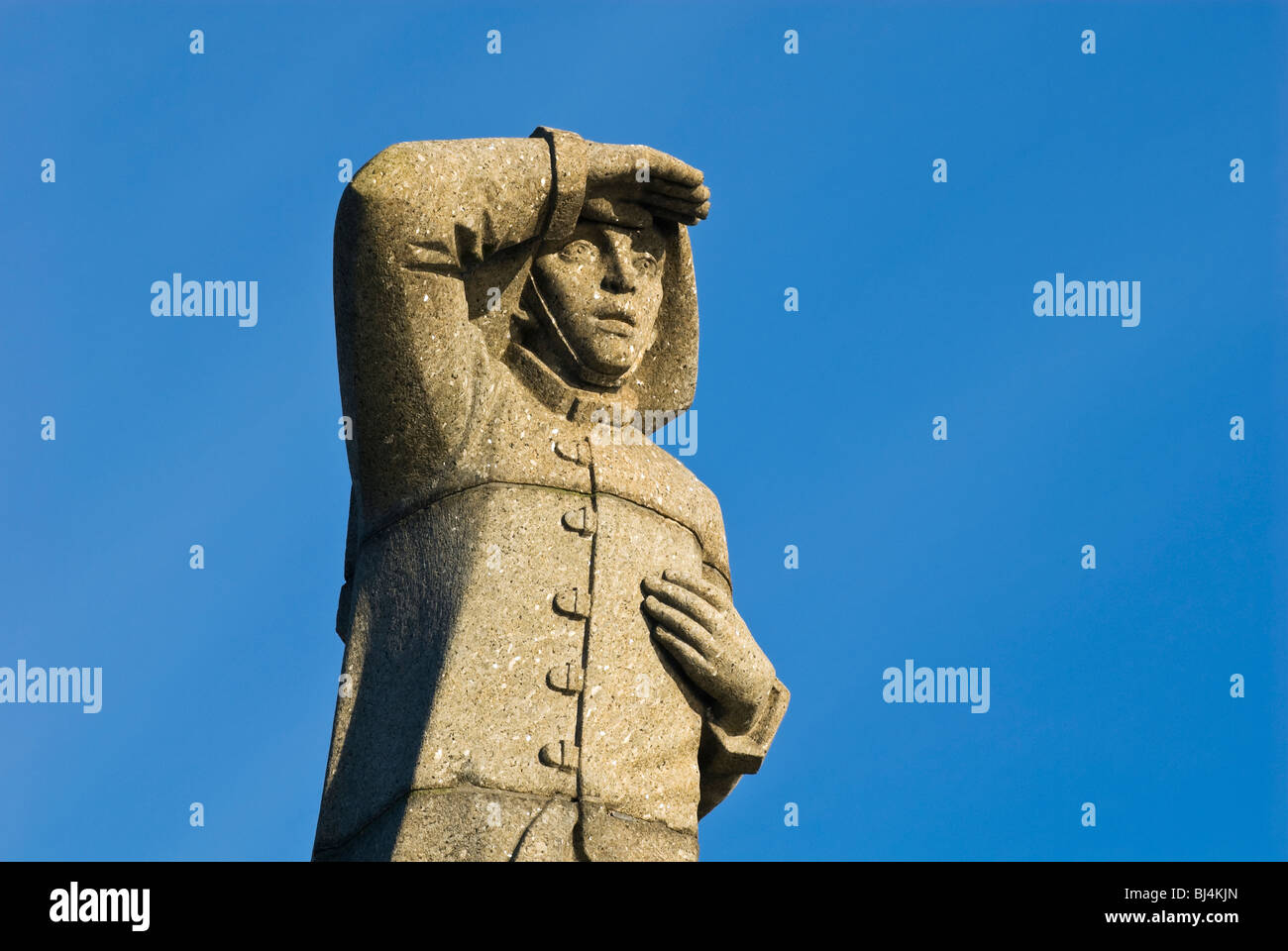 Monument to merchant sailors who died during WWII, Amsterdam, the Netherlands - Stock Image