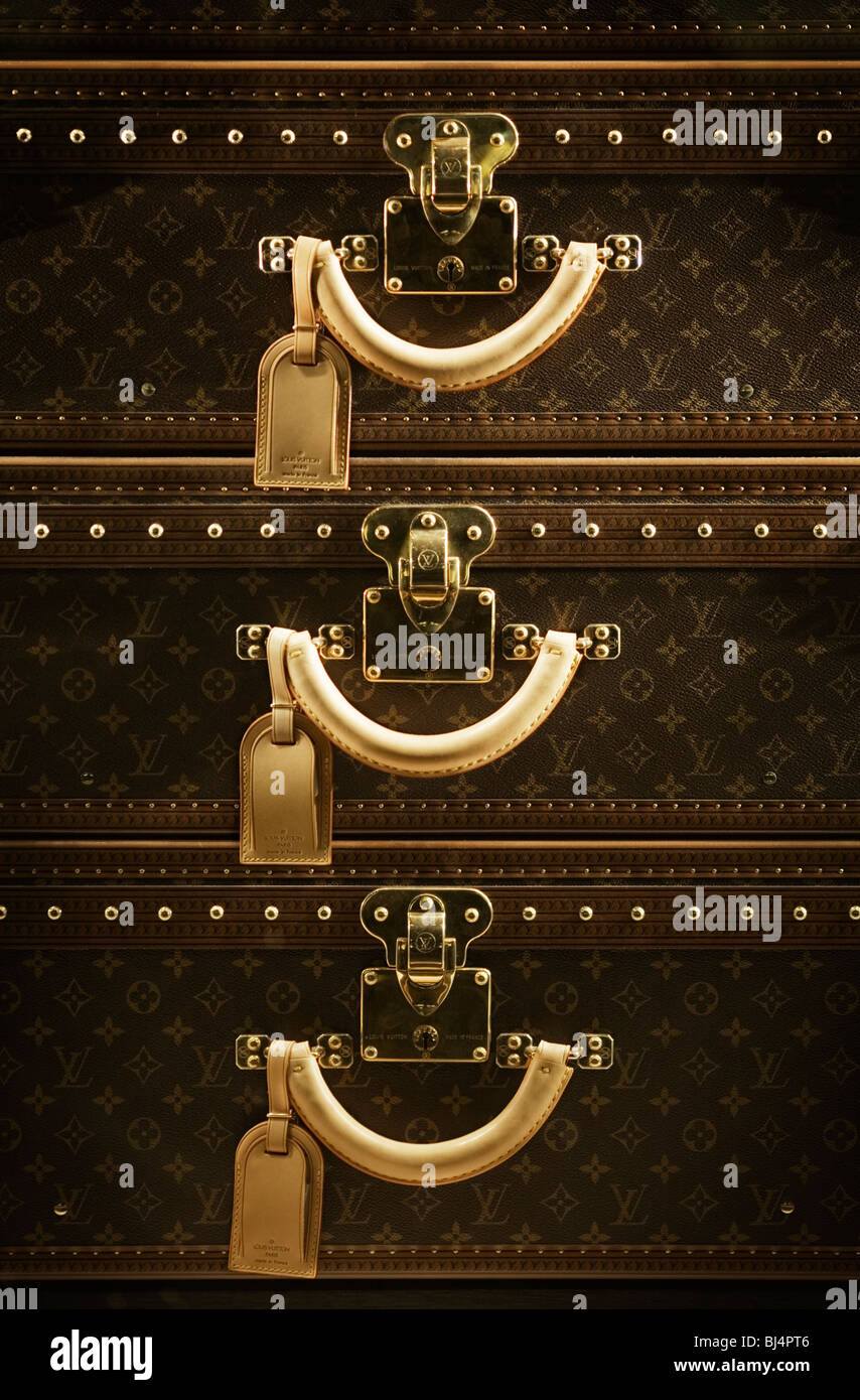 Louis Vuitton luggage suitcase set. Berlin, Germany - Stock Image