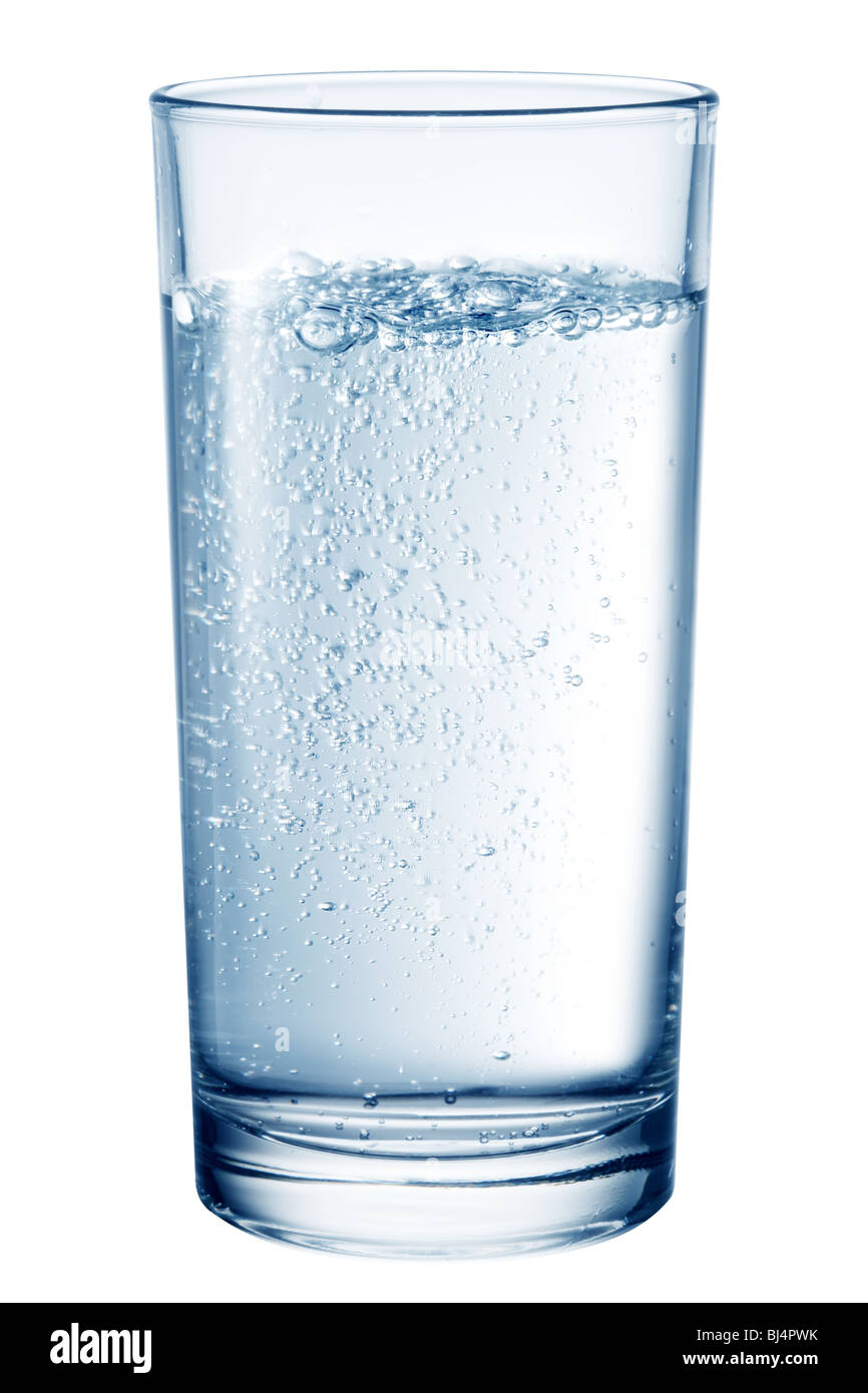 Glass of table-water. - Stock Image