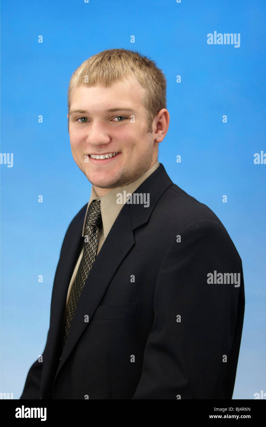A 17 Year Old American High School Teen Boy Stock Photo