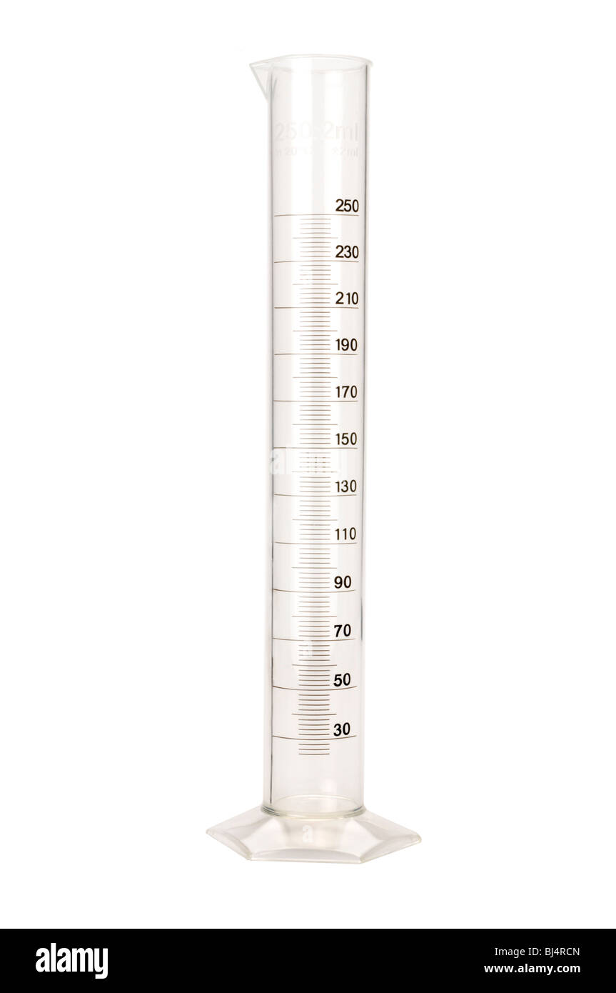 beaker glass scientific - Stock Image