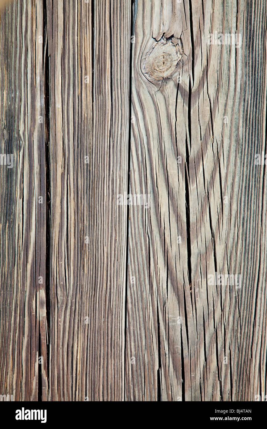 weathered wood background - Stock Image