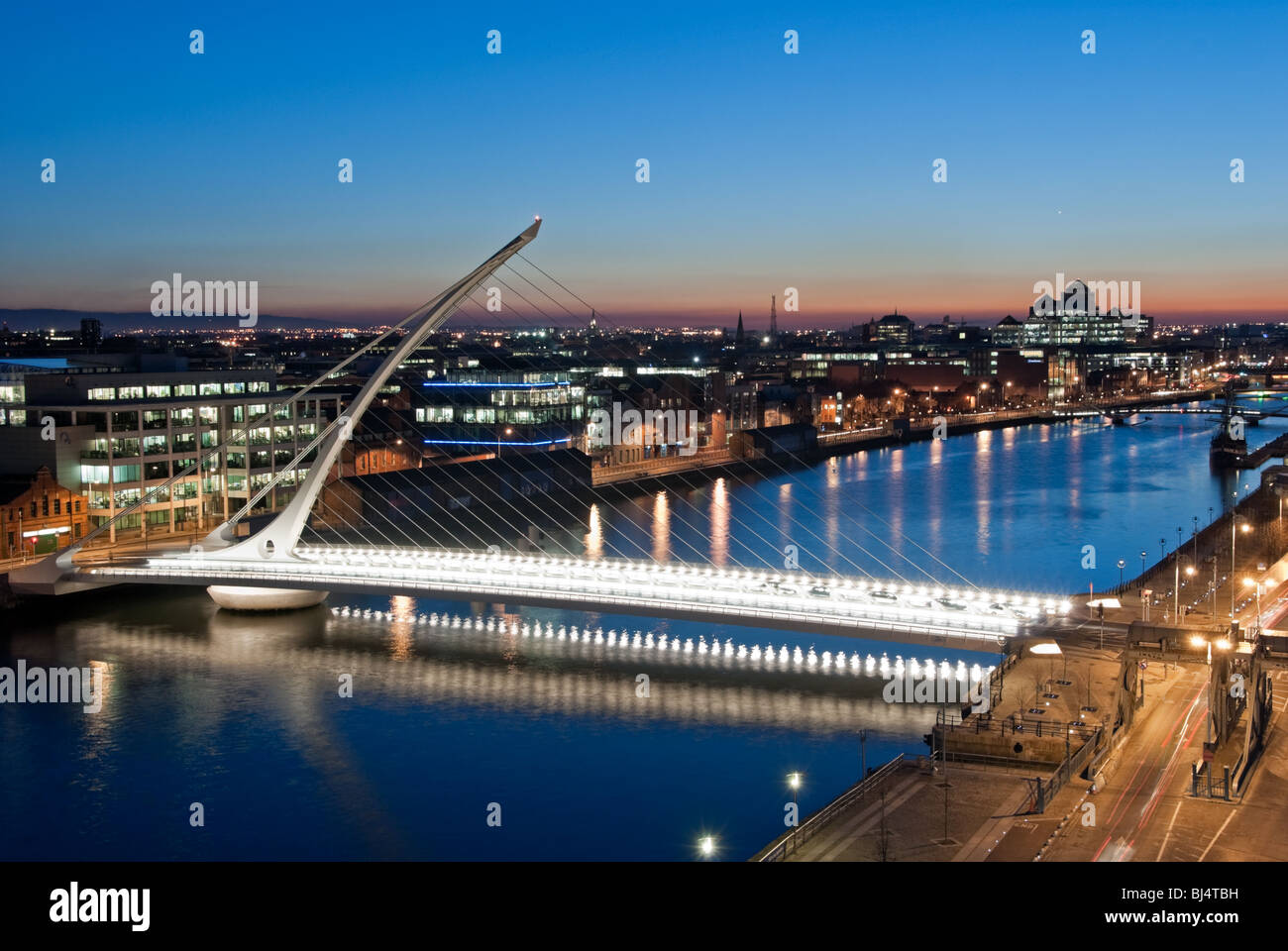 Evening over the River Liffey Stock Photo