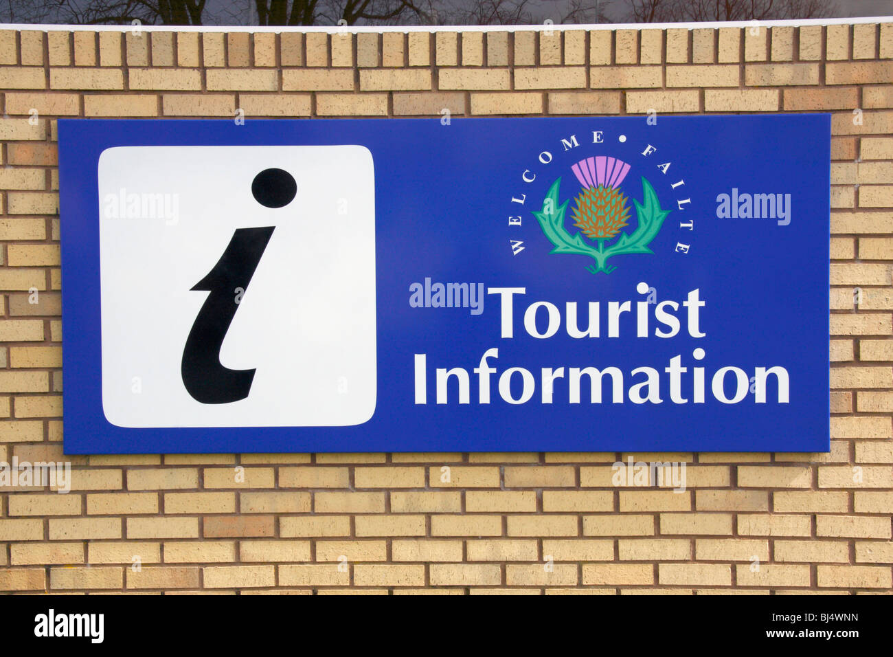 Tourist Information sign, Scotland - Stock Image