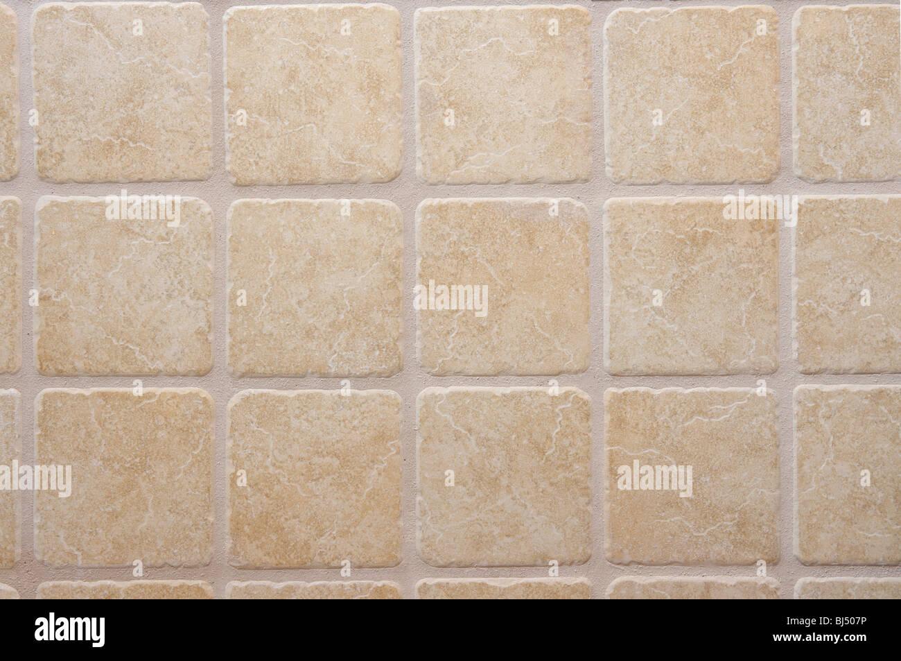 tiled wall - Stock Image