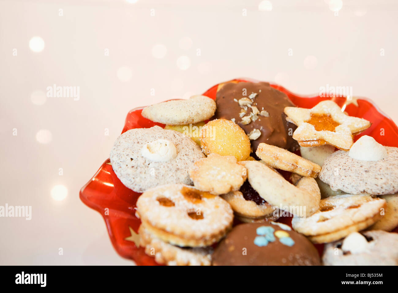 A plate of cookies - Stock Image