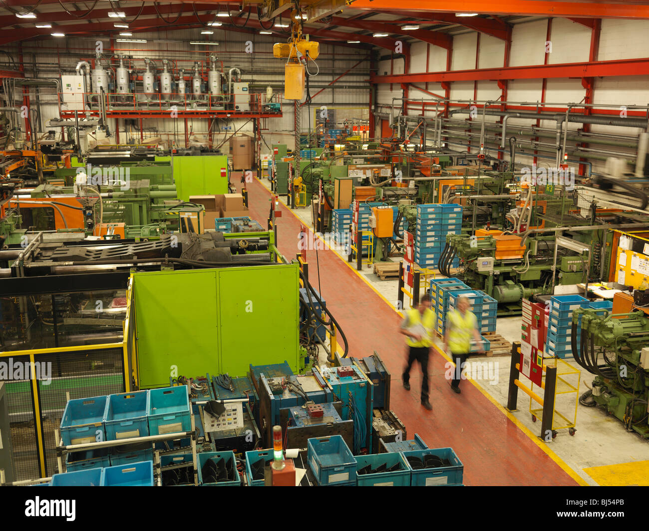 Overview Of Factory With Workers - Stock Image