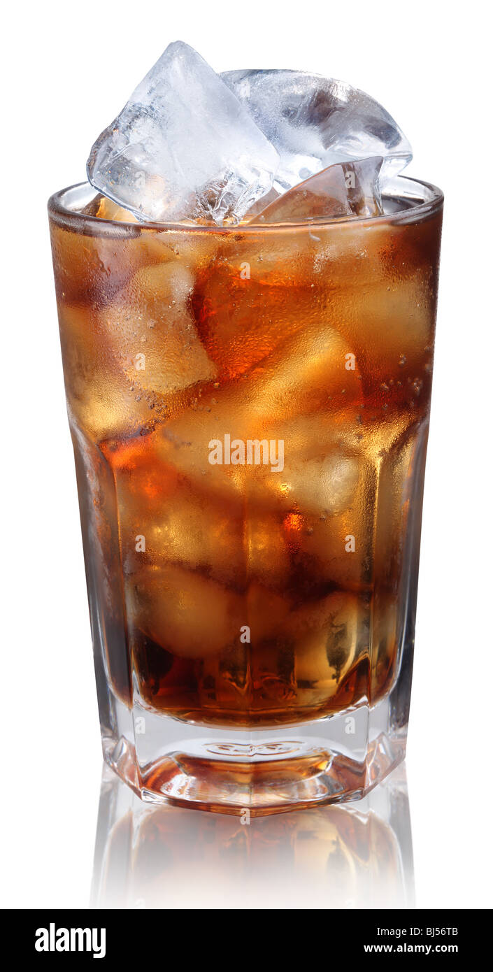 Steamed glass with cold cola - Stock Image