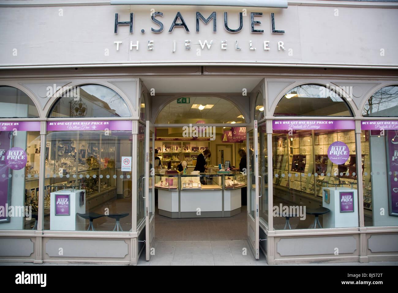 H Samuel jeweller shop Colchester Essex England - Stock Image