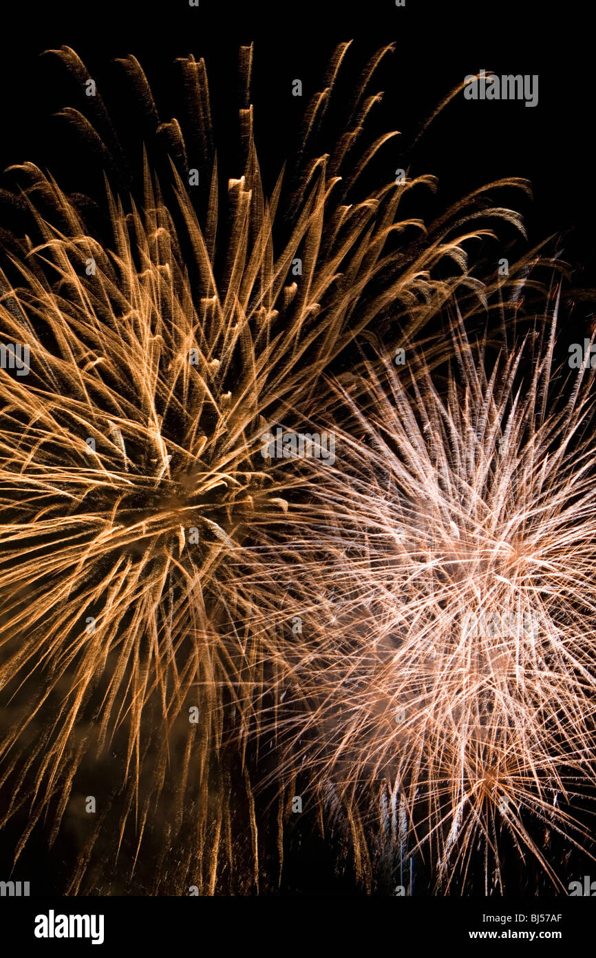 fireworks by night - Stock Image