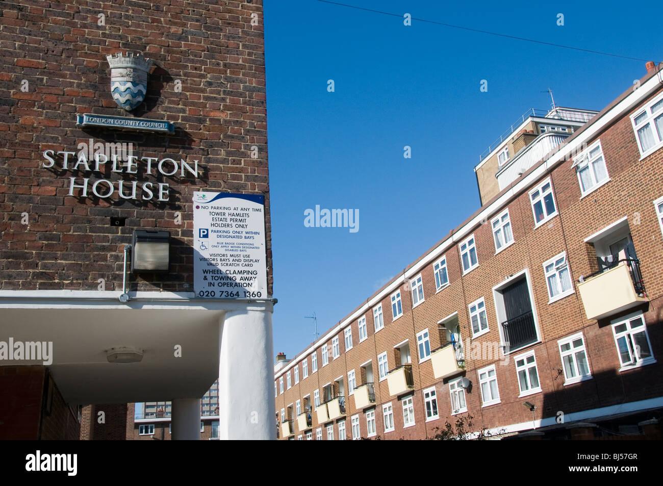 UK Stapleton House council housing estate in Tower Hamlets London Stock Photo