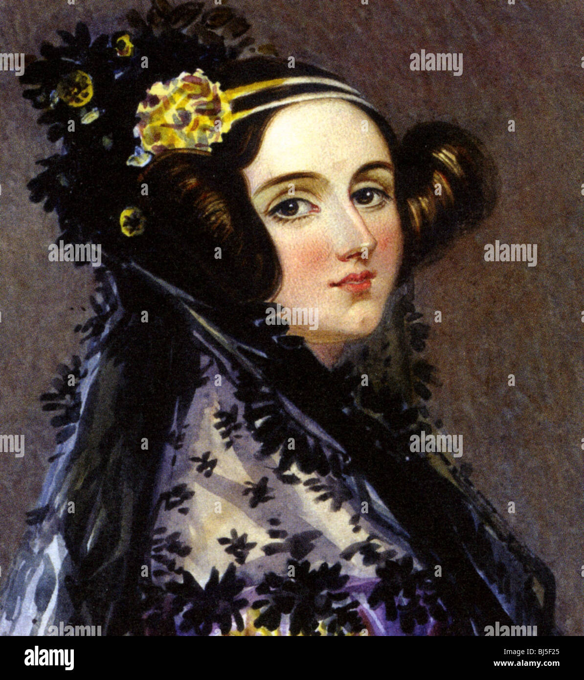 ADA  LOVELACE  - English writer and mathematician (1815-1852) daughter of Lord Byron and friend of Charles Babbage - Stock Image