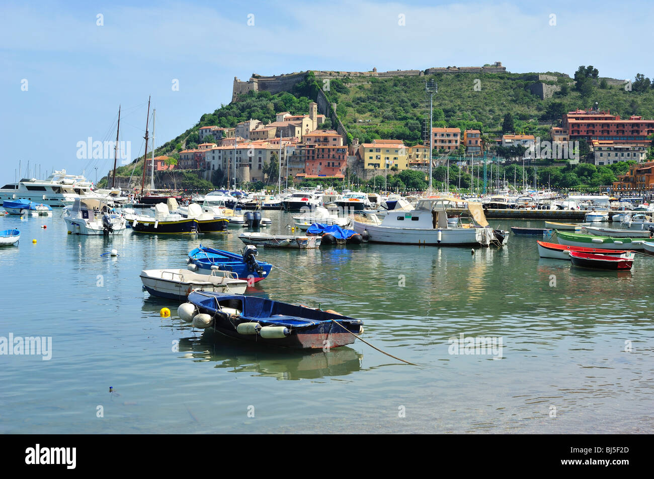 port'ercole, monte argentario, provinde of grossetto, tuscan, italy - Stock Image