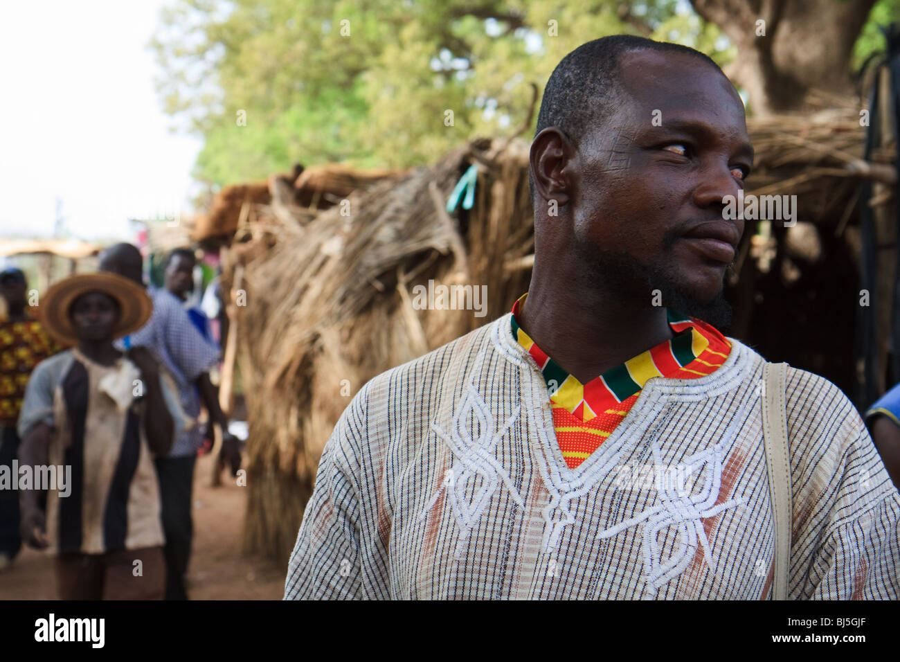 Africa Burkina Faso Imasgo Younger Men - Stock Image