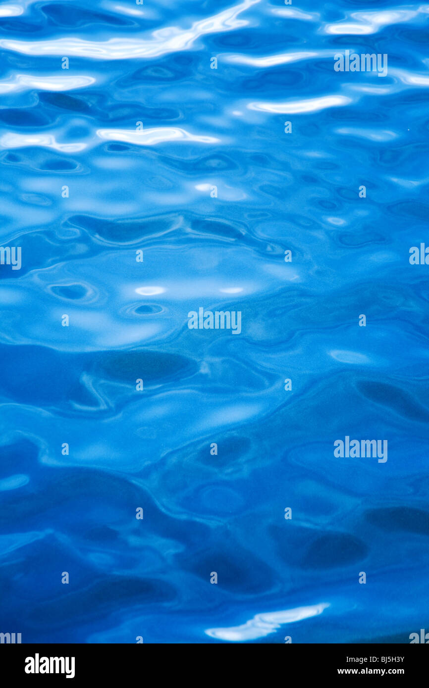 blue water background - Stock Image