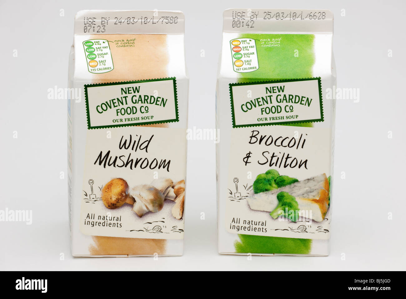'New Convent Garden food Co' Soups in cartons - Stock Image