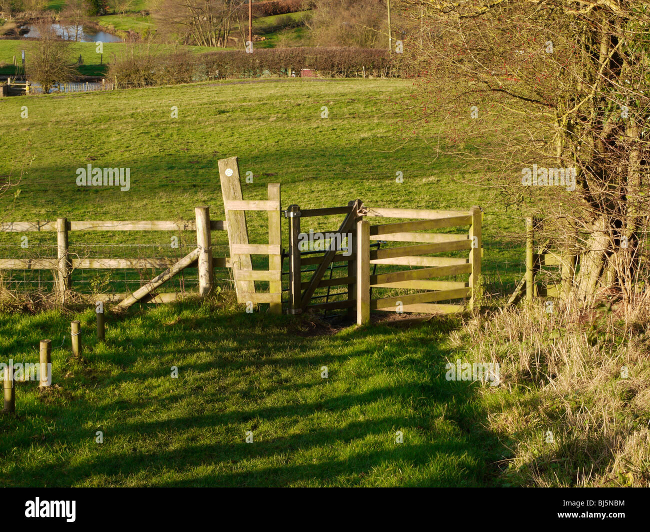 views from the monarchs way long distance footpath tardebigge worcestershire Stock Photo