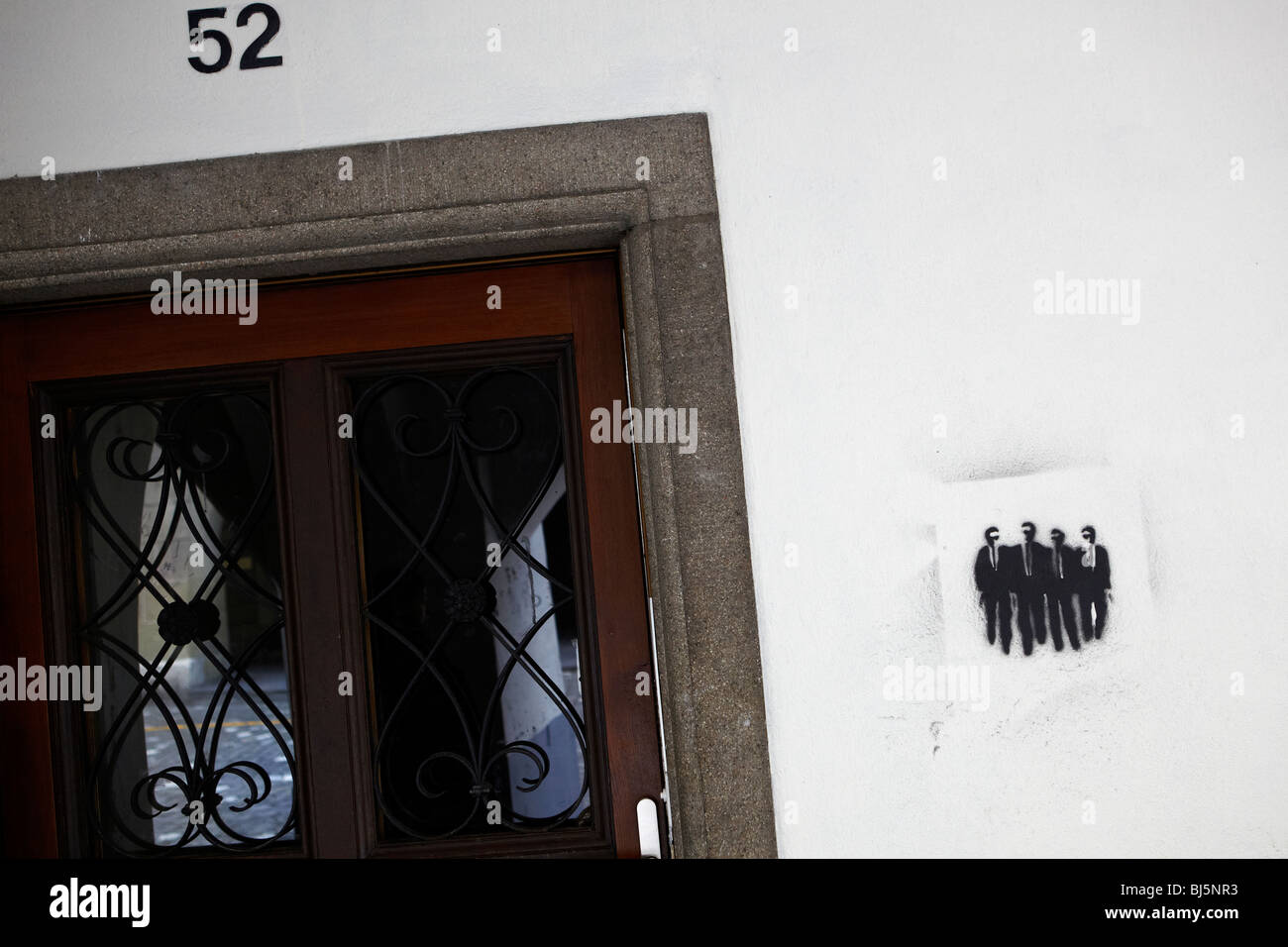 Reservoir Dogs stencil graffiti in Bern, Switzerland - Stock Image