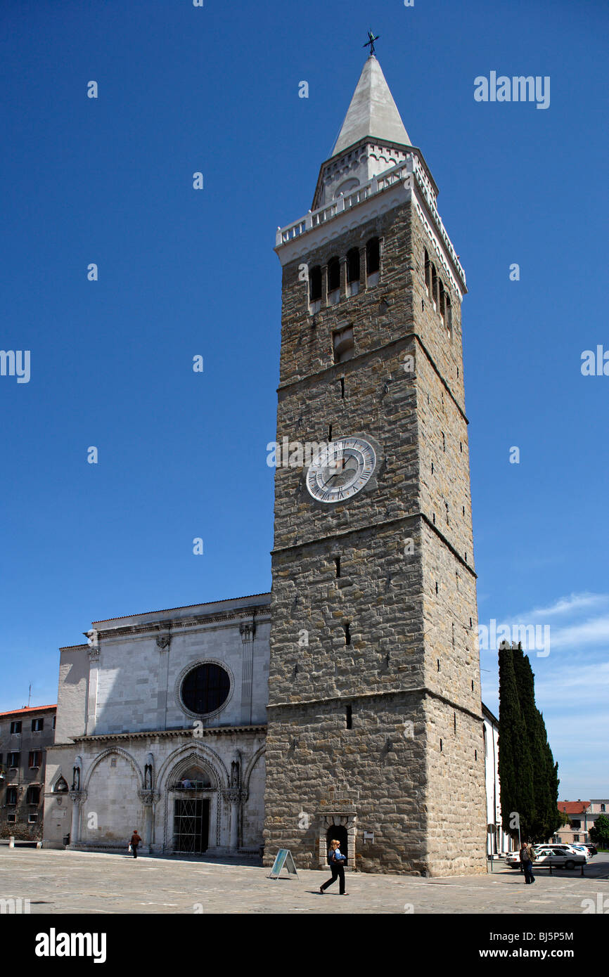 Koper,Cathedral of the Assumption,City Belltower,Slovenia - Stock Image