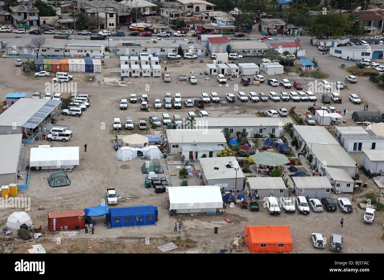 UN Logistics Base Port au Prince Haiti - Stock Image