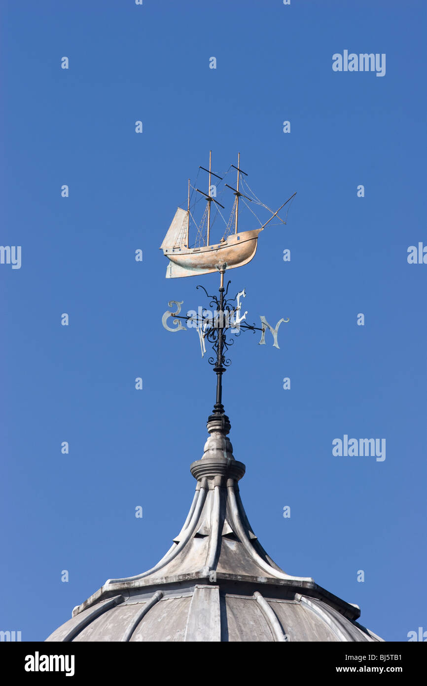 The weathervane on top of E Shed, now The Watershed, St Augustine's Reach, Bristol, England. - Stock Image