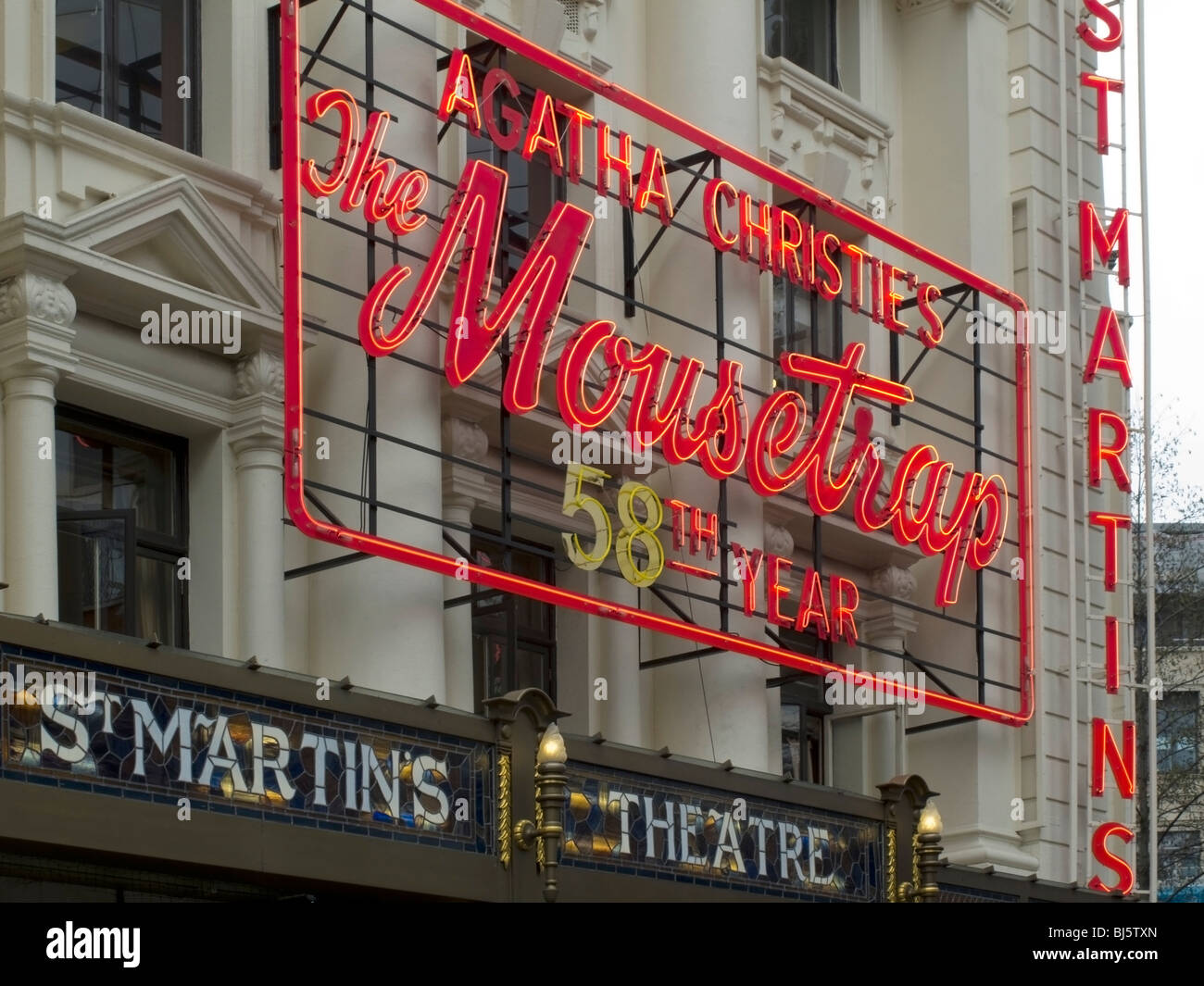 Agatha Christies The Mouse Trap at St Martin's Theatre 58th year - Stock Image