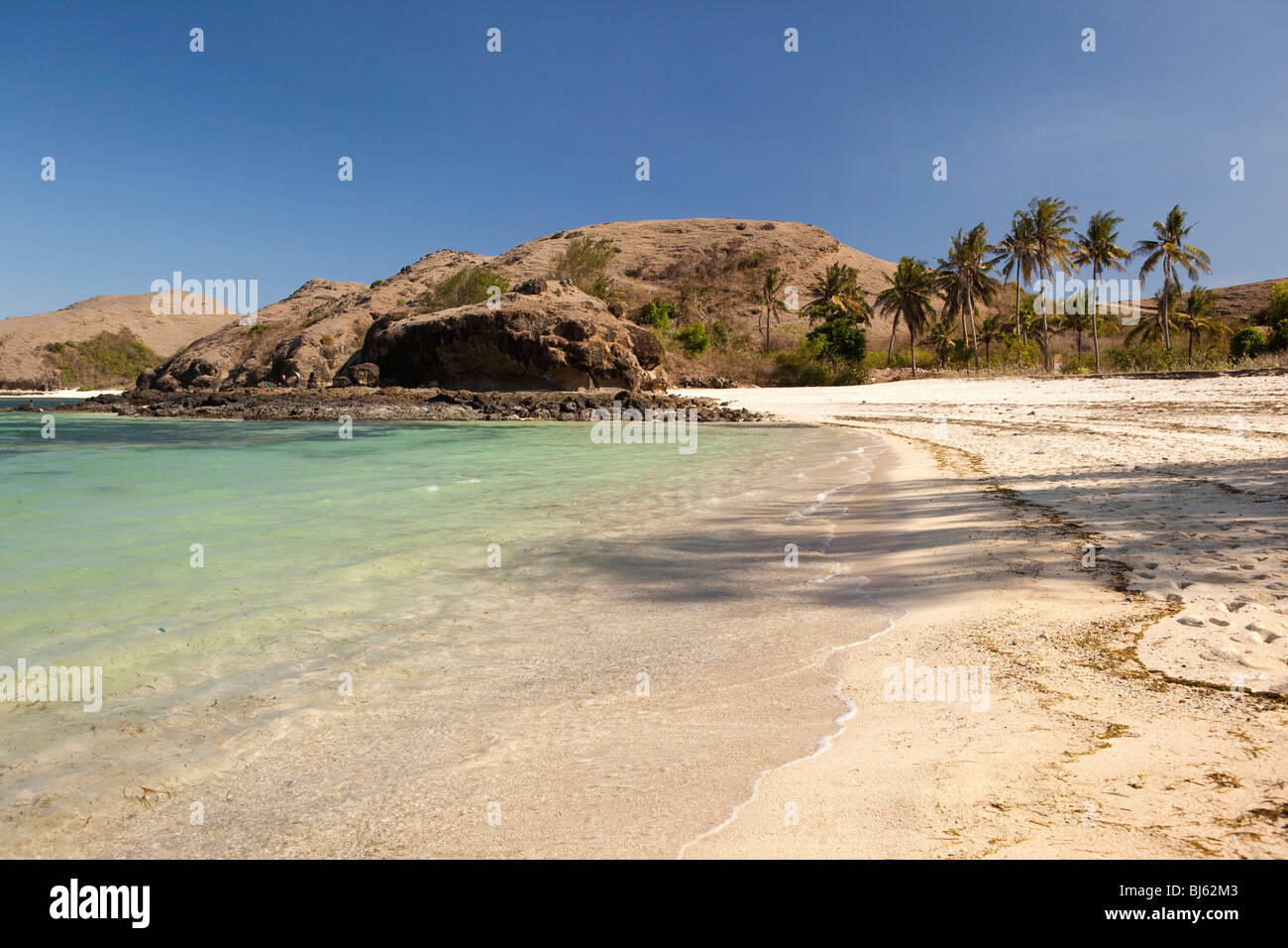 Indonesia, Lombok, Tanjung, beach - Stock Image