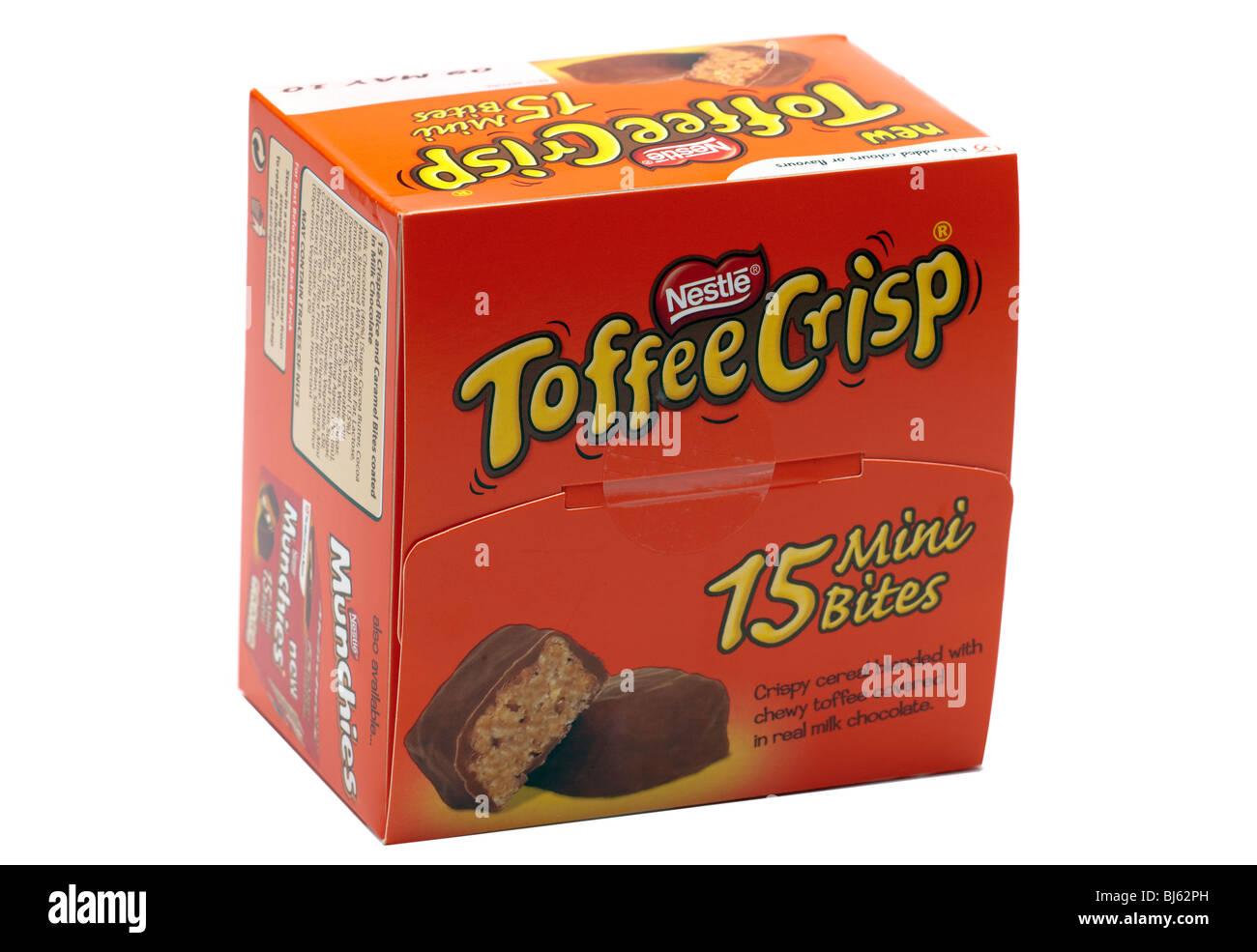 Box of Nestle toffee crisp 15 mini bites - Stock Image