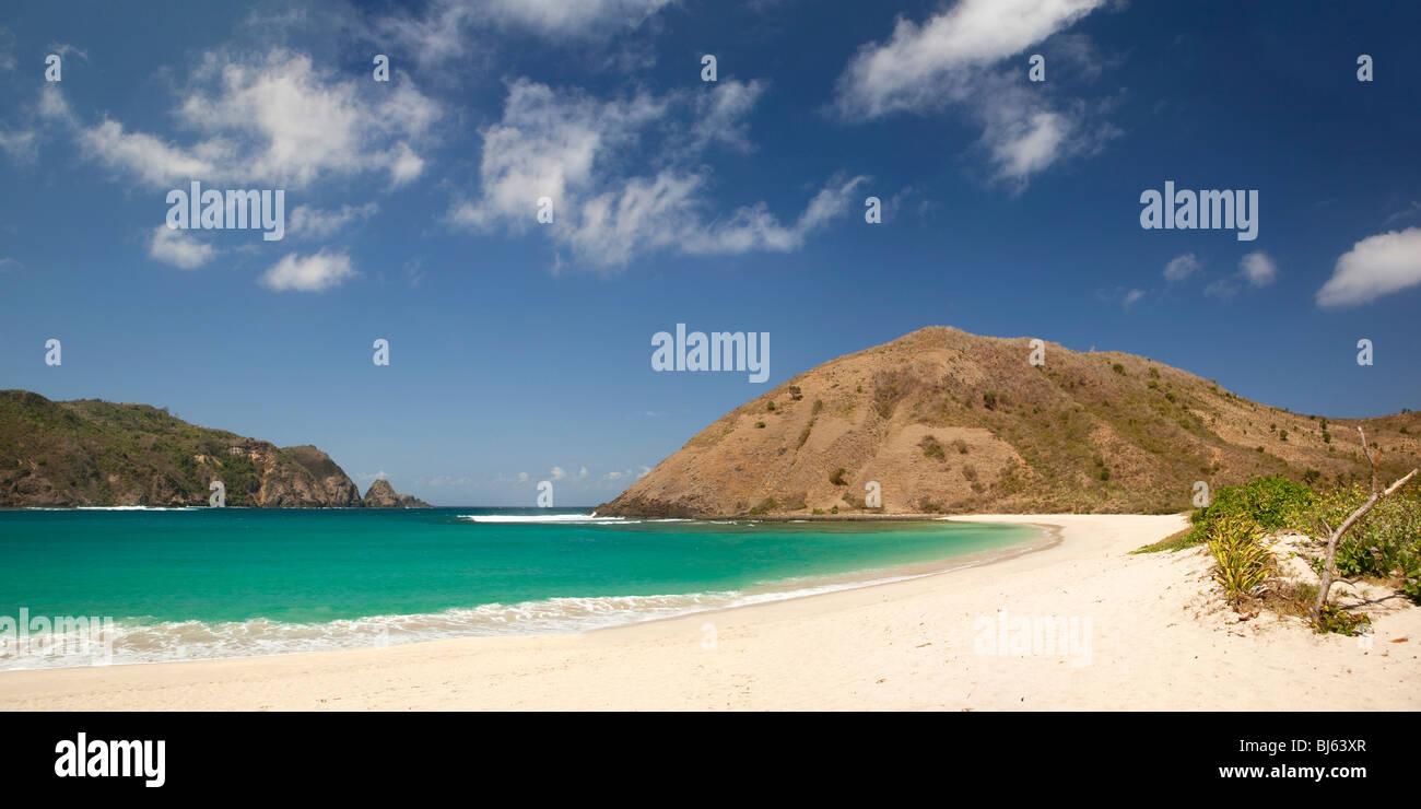 Indonesia, Lombok, South Coast, Mawun, beach panorama Stock Photo